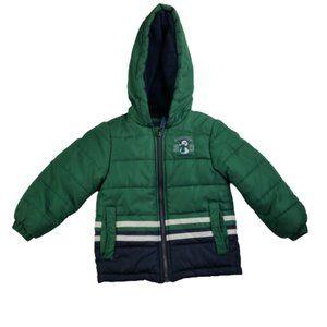London Fog Puffer/Quilt Green/Blue Coat/Jacket Boy